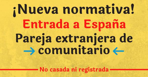 Entrada a España